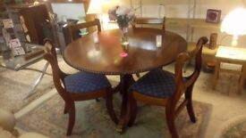 Traditional solid mahogany dining table 4 chairs REDUCED to £100 Local DELIVERY Stalybridge SK15 2QF