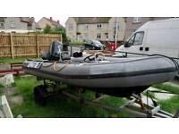 Avon rib boat 4,2metre
