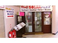 Window Blind Micro Business for sale. Showroom with workshop. Training given. Make own hours.