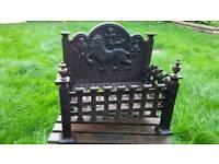 Cast iron fire basket / log burner