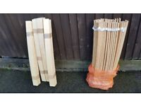 Double and king size sprung wooden bed slats (replacement slats)