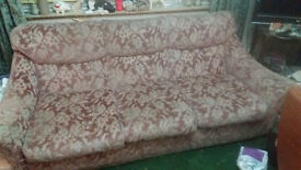 Pink flower sofa and two chairs Free
