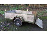 8ft x 5ft Open box trailer