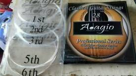 Guitar strings. Adagio no 1, 2, 3, - 5 and string 6 only.