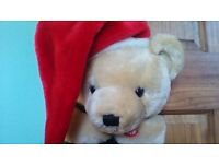 TEDDY STOCKING..PLAYS CHRISTMAS SONGS..GREAT QUALITY, SEE MY OTHER 70 ITEMS