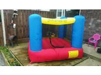 2 X 2 METER X 1.8 METER HIGH BOUNCEY CASTLE WITH BLOWER BAG PEGS ETC RRP £129.99