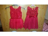 Girls red dresses