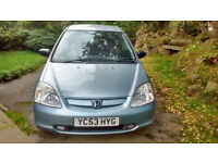 Honda Civic 2003 1.6 VTEC 5 Door 11 Months MOT