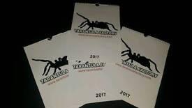 2017 tarantula calendars