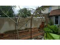 Ornamental garden arch