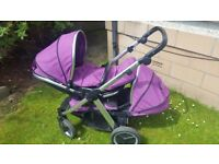 Twin Oyster Max 2 chassis Tandem Pram