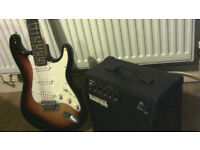 ELCTRIC GUITAR AND AMP IDEAL FIRST GUITAR FOR BUDDING SUPERSTAR