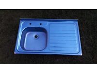 **BRAND NEW**STAINLESS STEEL KITCHEN SINK**STILL IN PLASTIC**MORE AVAILABLE**NO OFFERS**