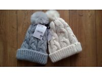 2 brand new winter hats with tags