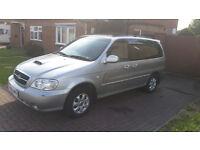 2006 KIA SEDONA LE 2.9 CRDI, 12 months MOT, 7 Seater Family MPV Diesel, 5 Speed Manual Gearbox