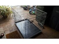 Sturdy metal puppy-dog cage available.