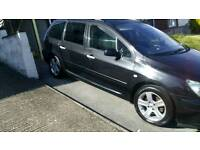 """""""7 SEATER"""" PEUGEOT 307 HDI, 1600 DIESEL SW ESTATE, PANORAMIC ROOF £1375 PX"""