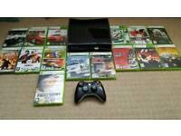 Xbox 360 slim 250gb + 16 games