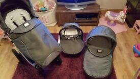 VIB Pram including pushchair and carseat
