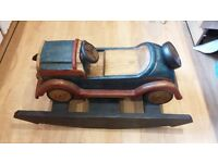 Hand Carved Wooden Car