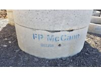 Concrete Chamber Manhole Ring 1800 mm x 500 mm with steps.