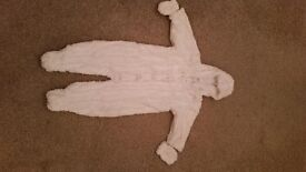Cream Baby snow suit from Next age 9 - 12 months