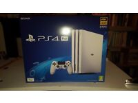 PS4 Pro 1tb With 4 Brand New Games All Accessories Included In Original Box Collection Only