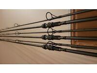 3 x Nash NR Toro Carp Rods