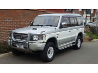 Mitsubishi Pajero Exceed 2.8 TD (Diesel) Auto (1995/N Reg) + LWB + White/Gold + Leather + High Spec