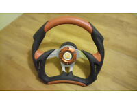 Part leather sports steering wheel