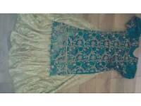 Long kameez and lengha skirt