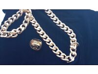 Mens Chunky Gold Filled Hip Hop long chain and chunky VersaceRing *REDUCED*