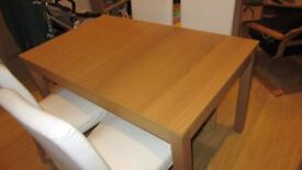 4 Harry Chairs Birch/blekinge white - cover can be machine washed