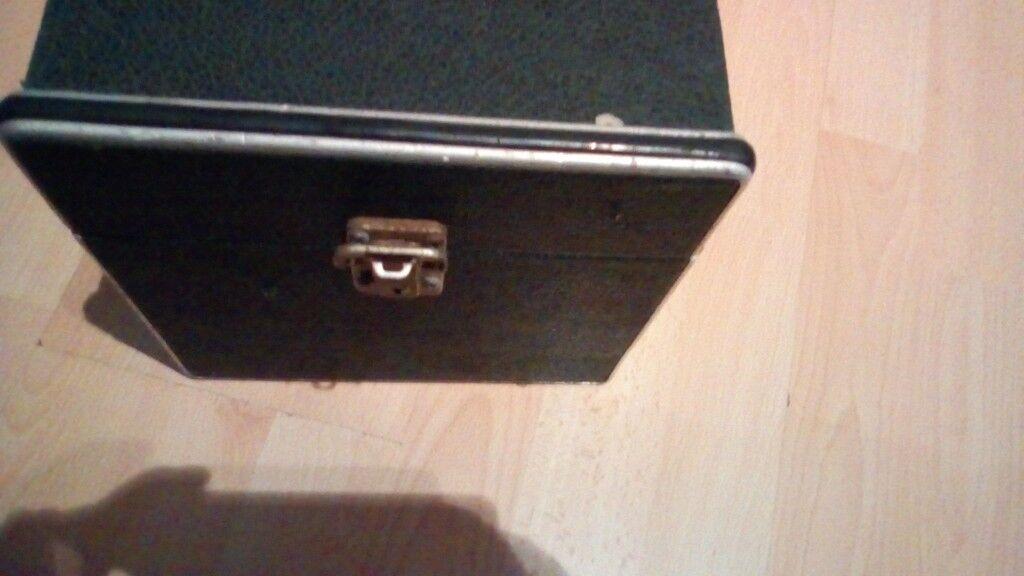 Record Storage Box Case Holds 200 Vinyl 7 Inch Singles In Oxford