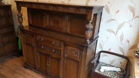 Court Cabinet Sideboard Carved Solid Wood
