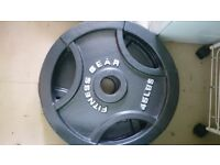 Olympic cast iron tri grip plates 40kgs