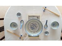 29 piece Chinese Tableware set with 2 x Tealight Plate Warmers
