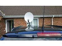 Caravan/Motorhome portable satellite dish and receiver