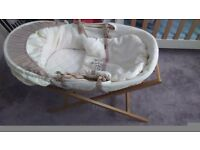 Mamas and Papas moses basket, stand, mattress etc