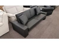 Julian Bowen Supra Brown Faux Leather Sofa Bed Can Deliver