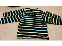 Boy's 2 pack stripe Tops