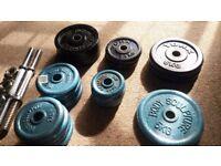 Cast Iron Weight & Adjustable Dumbells