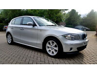 AUTOMATIC SILVER BMW 118i ALLOYS FULL SERVICE HISTORY, MOT, PX