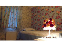 two rooms, double & single, for working females or family couples