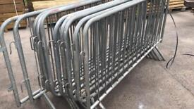 10 X Used Pedestrian Barriers