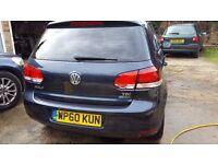 11 VW Golf 1.6 TDI Bluemotion Match Rare - Nav - Cam - FSH - Htd - HIGH SPEC