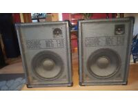 2 pa disco speakers squire nrg not too heavy