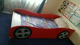 Car bed. Red Ferrari. Single children's