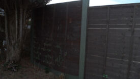 Three Wooden Fencing Panels