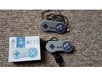 2 x SNES style USB Gamepads for PC or Raspberry PI